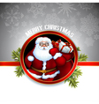 Santa design vector image vector image