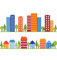 Seamless pattern of city town or village vector image