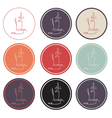 Set of yoga icon logo vector image