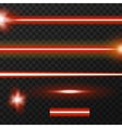 Laser beams pack vector image