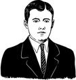 portrait of a man vector image