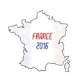 France euro championship 2016 abstract design vector image