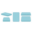 comfortable mattress for sleeping in different vector image