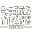Icon Kitchen Tools vector image