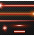 Laser beams pack vector image