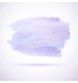 Purple watercolor stain design element vector image