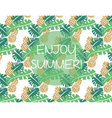 Summer pattern background vector image