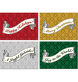 Merry Christmas scroll banner vector image vector image