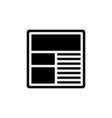 Website Icon Flat vector image