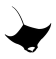 Icon manta fish vector image