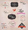retro valentines labels vector image vector image