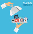 medical services concept vector image vector image