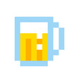 Pixel beer glass template vintage brewery sign vector image