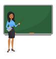 muslim or brazilian looking woman teacher standing vector image