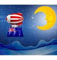 A floating balloon with the New Zealand flag vector image