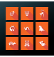 flat baby toy icon set vector image