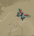 Wallpaper - background with a butterfly vector image vector image