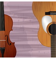 Guitar and violin icon vector image