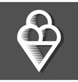 Ice Cream Icon On Dark Background vector image