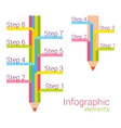 Colored pencil with some note infographic elements vector image