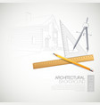 the architectural drawing vector image