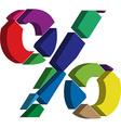 3d PERCENT symbol vector image vector image