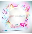 elegant christma speech bubble vector image vector image