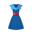 Flat design blue women dress vector image vector image