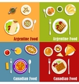Canadian and Argentine national cuisine vector image vector image