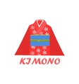 Traditional Kimono Cartoon Style Icon vector image