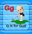 flashcard letter g is for golf vector image