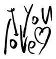 i love you words vector image