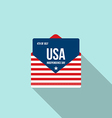 Independence day letter flat design icon vector image