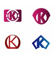 Letter K logo icon design template elements vector image