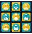 Professional avatar icons set vector image
