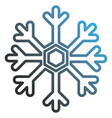 snowflake weather isolated icon vector image