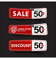 024 Collection of red and white web tag banner vector image