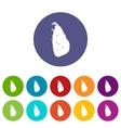 Map of Sri Lanka set icons vector image
