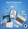 medical diagnostics concept vector image
