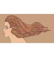 Vintage tints woman vector image vector image