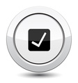 Button with Ok sign vector image