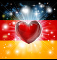 love germany flag heart background vector image vector image