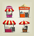 food-street-stall vector image vector image