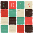 calendar 2015 tile colorful vector image vector image