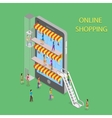 Online Shopping Isometric Concept vector image vector image