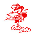 Chinese Monkey king vector image