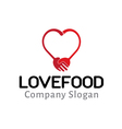 Love Food Design vector image vector image
