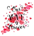 Our love is forever typography card vector image vector image