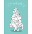 Christmas tree art style with Christmas Hand vector image vector image