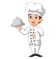 cute chef cartoon vector image vector image
